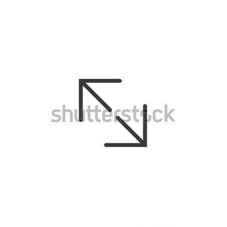 stretch full screen icon. isolated perfect pixel arrow symbol with flat style in white background fo Stock photo © taufik_al_amin