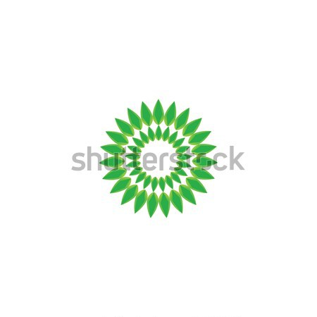 Leaf logo. Abstract Health green beauty logo template Vector illustration. Stock photo © taufik_al_amin
