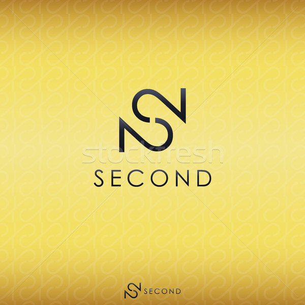 black letter S and double number 2 logo concept with gold backgr Stock photo © taufik_al_amin