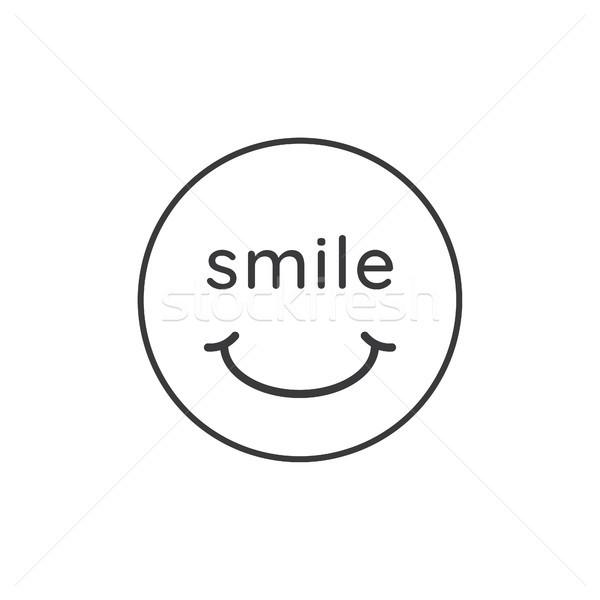 Glimlach gezicht icon kantoor gelukkig Stockfoto © taufik_al_amin