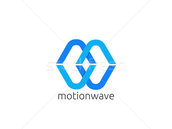 Stock photo: Abstract letter M and W logo icon template. infinity creative ap