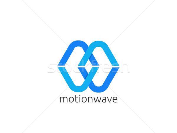 Abstrato letra m logotipo ícone modelo infinito Foto stock © taufik_al_amin