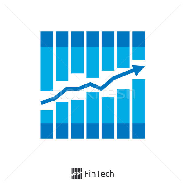 graph and arrow finance logo concept. fin tech logo. logo illust Stock photo © taufik_al_amin