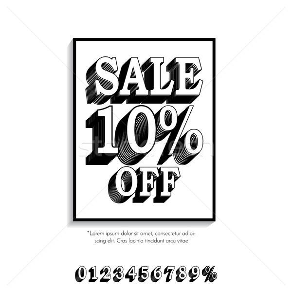 Clean classic style sale banner template. Flat design. Vector. Stock photo © taufik_al_amin