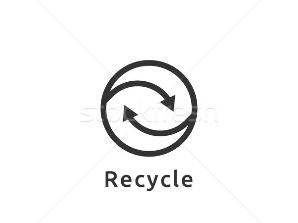 abstract recycle logo cycle arrow symbol icon template isolated