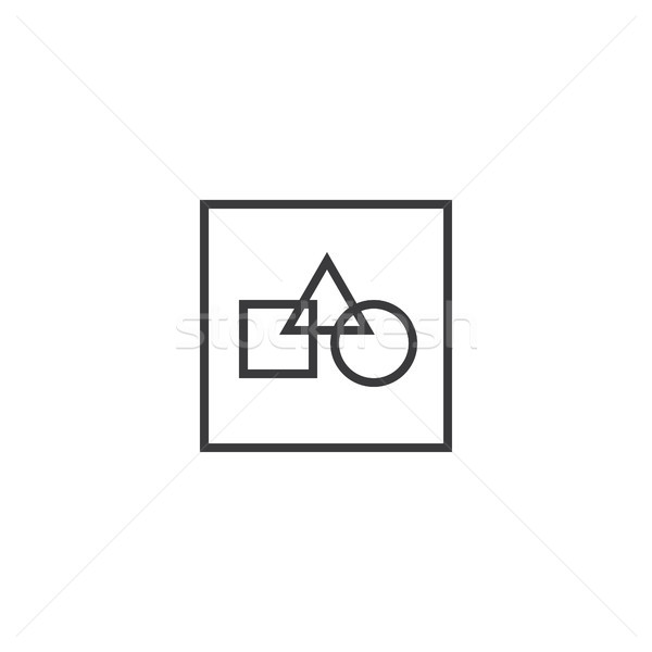Stock photo: picture file Icon. line style vector illustration