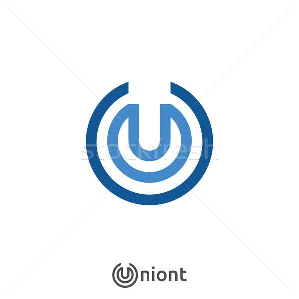 letter U logo icon. Abstract alphabet sign design for business company. vector illustration. Stock photo © taufik_al_amin