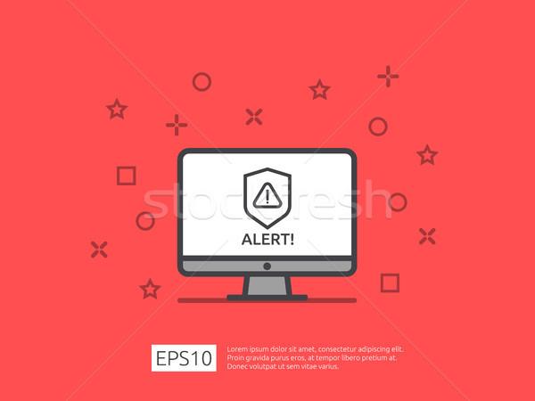 Uwaga ostrzeżenie alarm podpisania wykrzyknik symbol Zdjęcia stock © taufik_al_amin