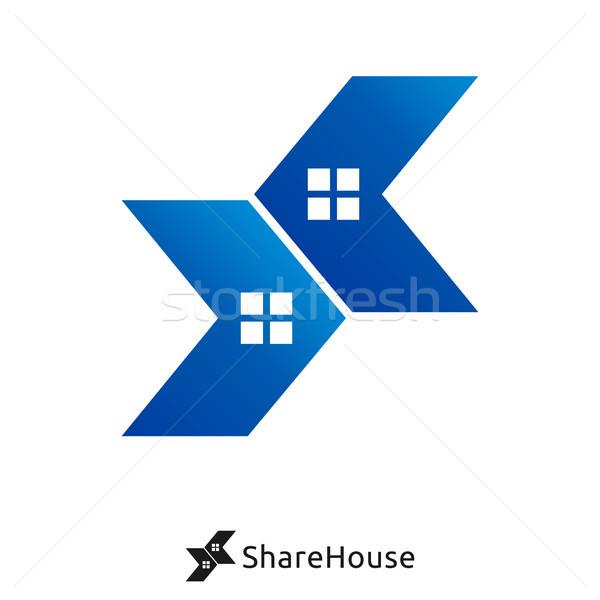 double arrow and house logo concept. share house logo.  Stock photo © taufik_al_amin