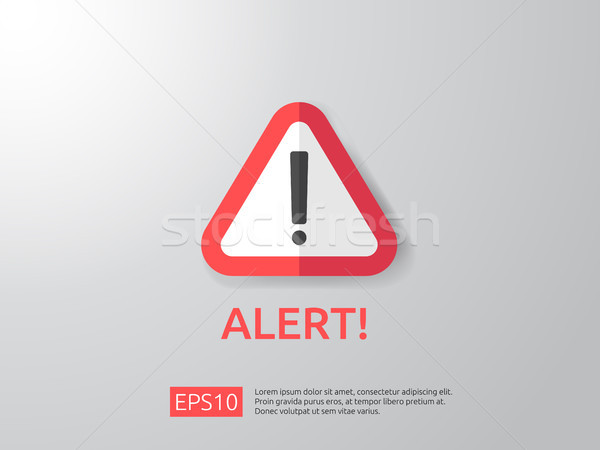 Attention avertissement alerter signe point d'exclamation symbole Photo stock © taufik_al_amin