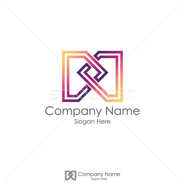 m initial letter logo. infinity letter dd design concept. Stock photo © taufik_al_amin