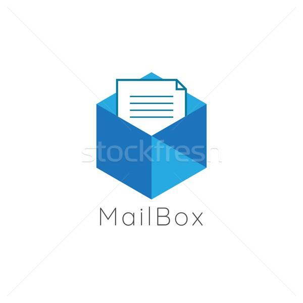 аннотация документа данные почтовый ящик логотип икона Сток-фото © taufik_al_amin