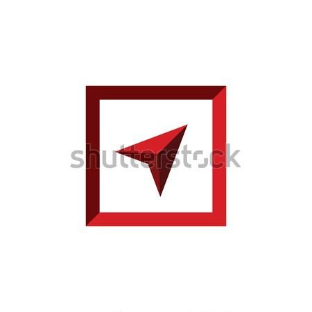 Seta jogar logotipo fundo assinar caixa Foto stock © taufik_al_amin