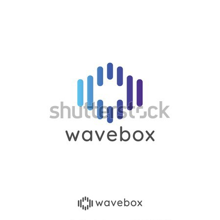 Soyut ses sinyal dalga nabız logo Stok fotoğraf © taufik_al_amin