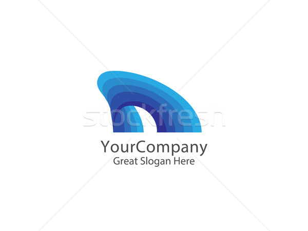 Abstract haai vin logo Blauw golf Stockfoto © taufik_al_amin