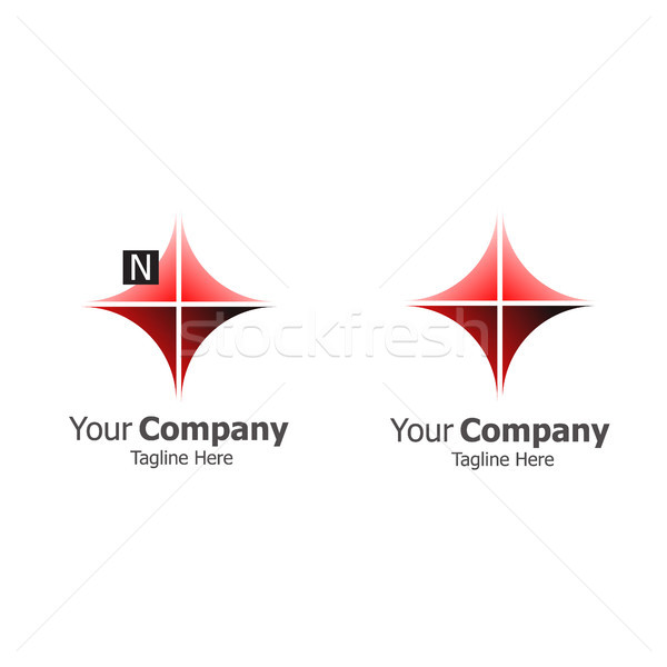 North star compass logo concept vector illustration Stock photo © taufik_al_amin