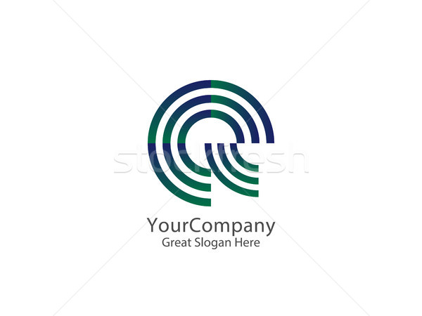 letter E and Q Logo Icon. circle line logo design concept Templa Stock photo © taufik_al_amin