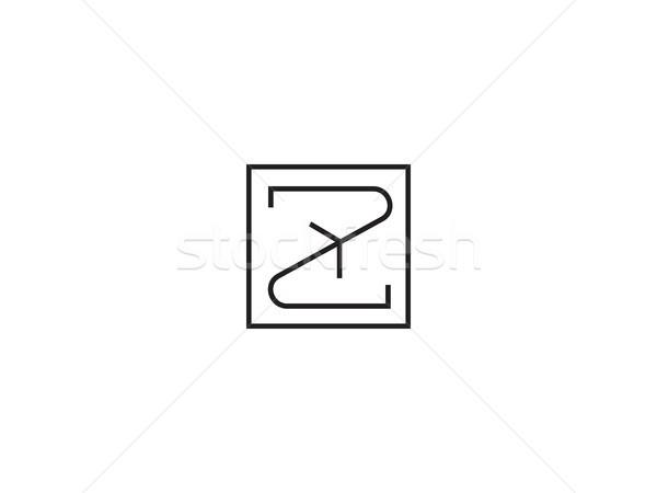 Logo şablon alfabe simge kurumsal Stok fotoğraf © taufik_al_amin