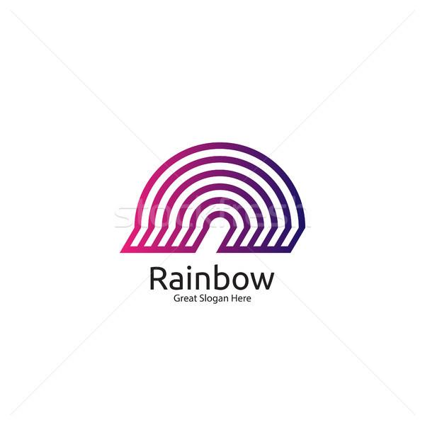 радуга логотип икона символ аннотация купол Сток-фото © taufik_al_amin