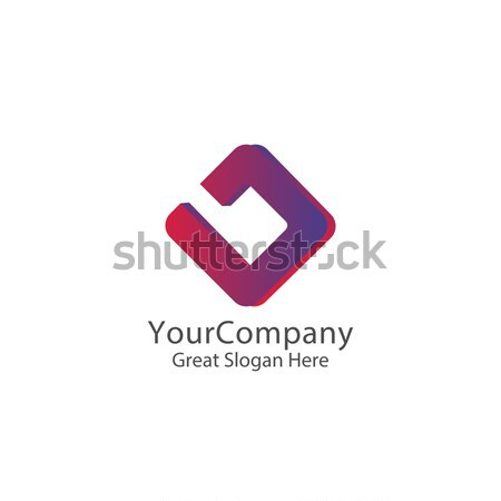 Abstract letter B logo icon. square box cube design concept for Corporate identity vector illustrati Stock photo © taufik_al_amin