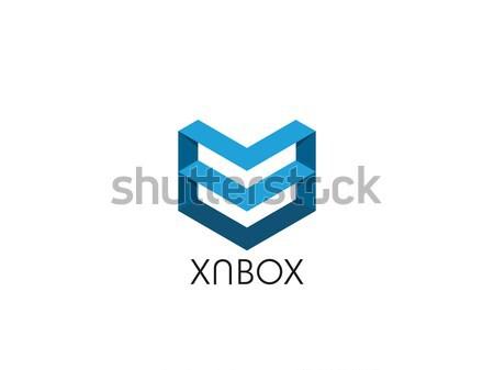 Abstract lettera m logo arrow scudo Foto d'archivio © taufik_al_amin