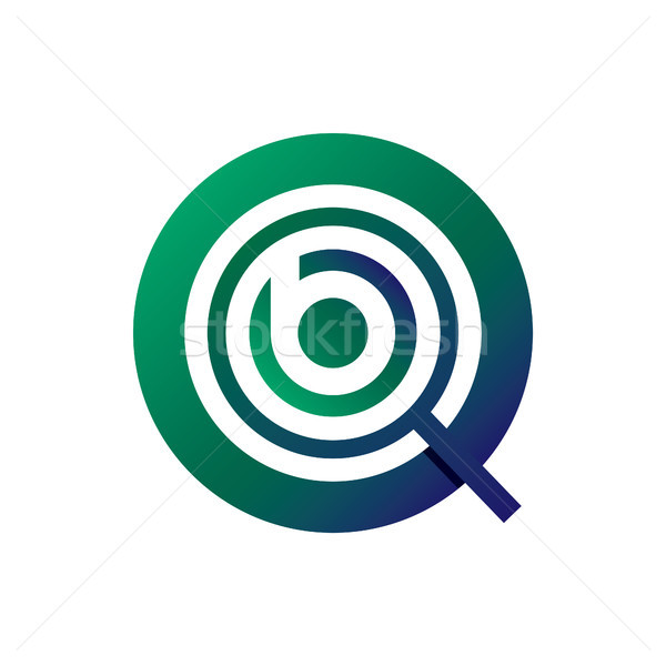 magnifying logo with initial letter b vector illustration Stock photo © taufik_al_amin