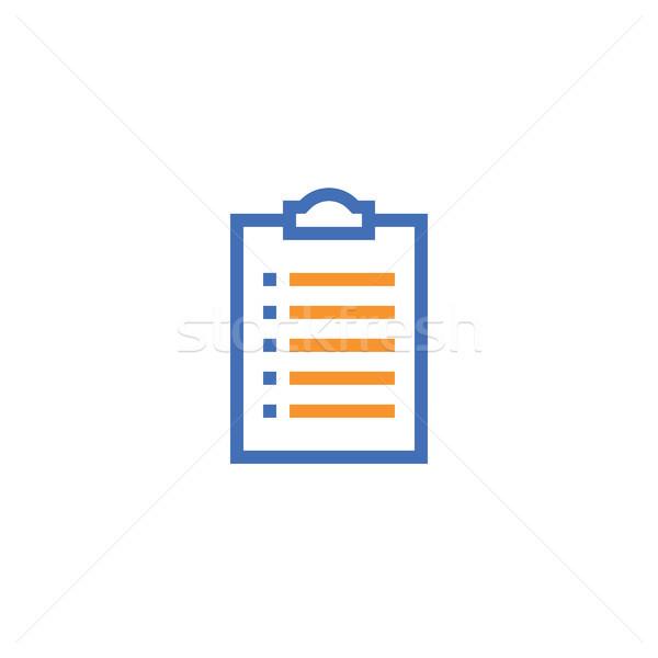 Verificare elenco contorno icona isolato documento Foto d'archivio © taufik_al_amin