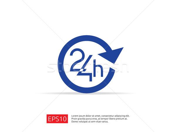 Foto stock: Abrir · 24 · dia · ícone · assinar · isolado
