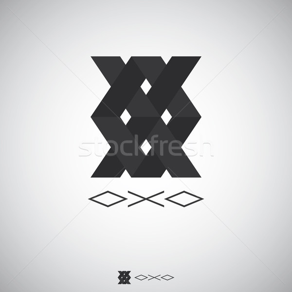 Abstract box logo with Letter X and O sign. Logo Template with f Stock photo © taufik_al_amin