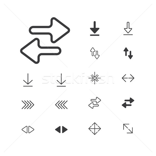 arrow-icon-expand-2-1artboardArrow Icon. isolated perfect pixel with flat style in white background  Stock photo © taufik_al_amin