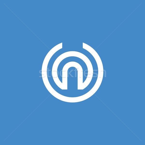 Stock fotó: Levél · logo · ikon · absztrakt · ábécé · felirat