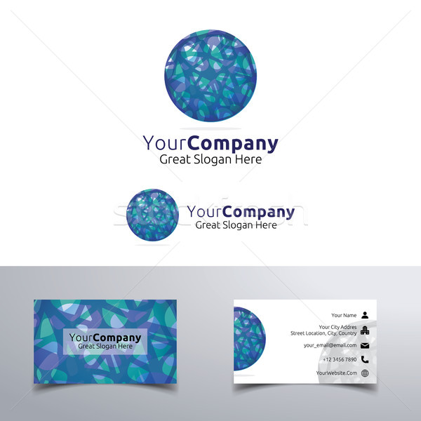 abstract round Circle Logo. marbles concept design. corporate business name card vector illustration Stock photo © taufik_al_amin