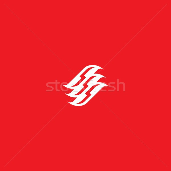 Su dalga simge giysi logo ikon Stok fotoğraf © taufik_al_amin
