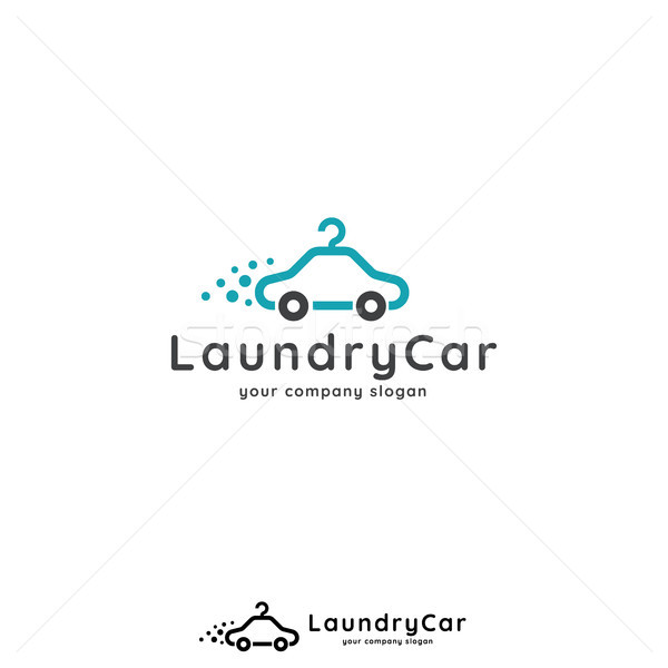 9106463 Laundry Logo Template Car Hanger Design Concept For Wash Business Or Services V By