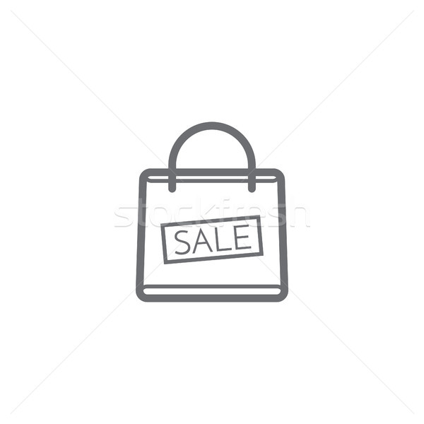 Stock photo: Shopping bag with the sale, discount symbol vector illustration