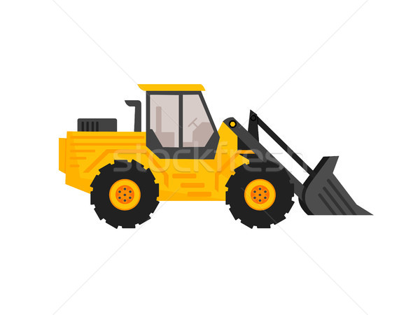 Front end loader flat cartoon style. construction equipment. exc Stock photo © taufik_al_amin