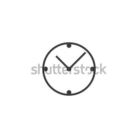 Klok icon lijn stijl horloge Stockfoto © taufik_al_amin