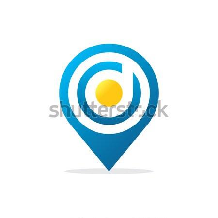 D betű tő logo ikon Föld hálózat Stock fotó © taufik_al_amin