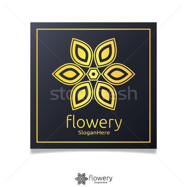 Elegante fiore logo icona vettore design Foto d'archivio © taufik_al_amin