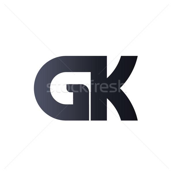 Zwarte brief logo-ontwerp monogram logo ontwerp Stockfoto © taufik_al_amin