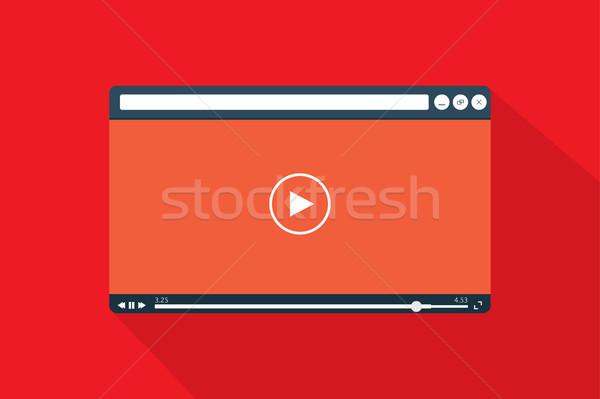 Vídeo jogador modelo estilo computador filme Foto stock © taufik_al_amin