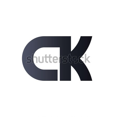 CK C K Black Initial Letter Logo design. bold monogram logo. Stock photo © taufik_al_amin