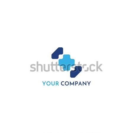 Kereszt meg orvosi logo ikon egészségügy Stock fotó © taufik_al_amin