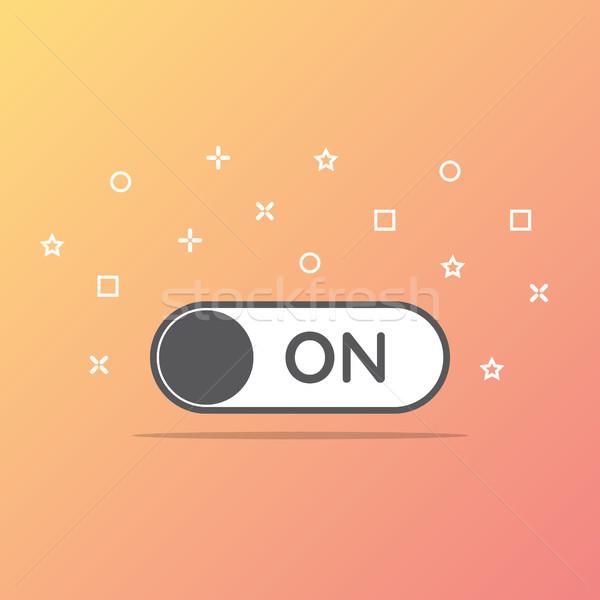 Foto d'archivio: Switch · icona · stile · internet · mobile · rosso