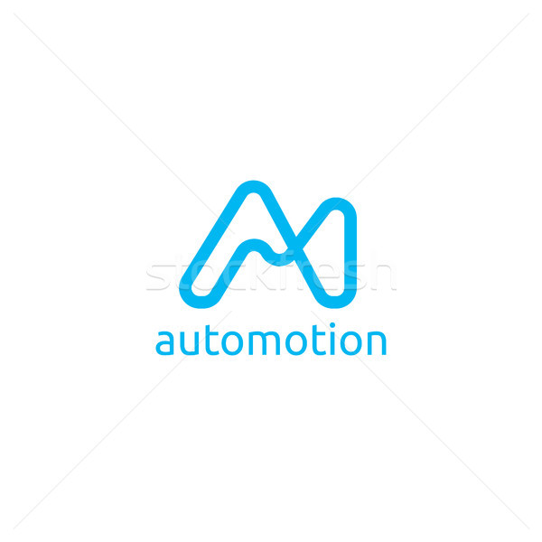 Abstract brief logo sjabloon Stockfoto © taufik_al_amin
