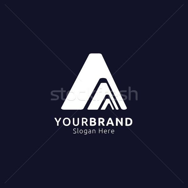 initial Letter A Logo. mountain design concept for adventure, tr Stock photo © taufik_al_amin