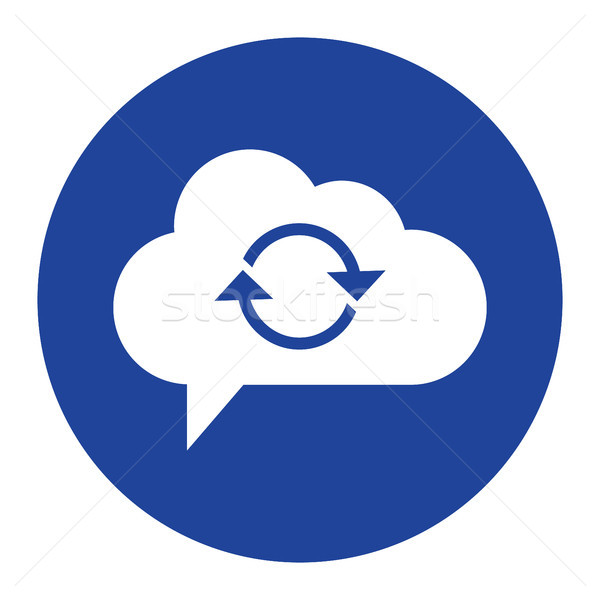 cloud computing concept sync Icon vector illustration Stock photo © taufik_al_amin