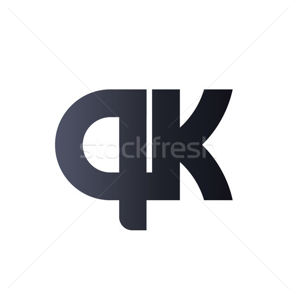 QK Q K Black Initial Letter Logo design. bold monogram logo. Stock photo © taufik_al_amin