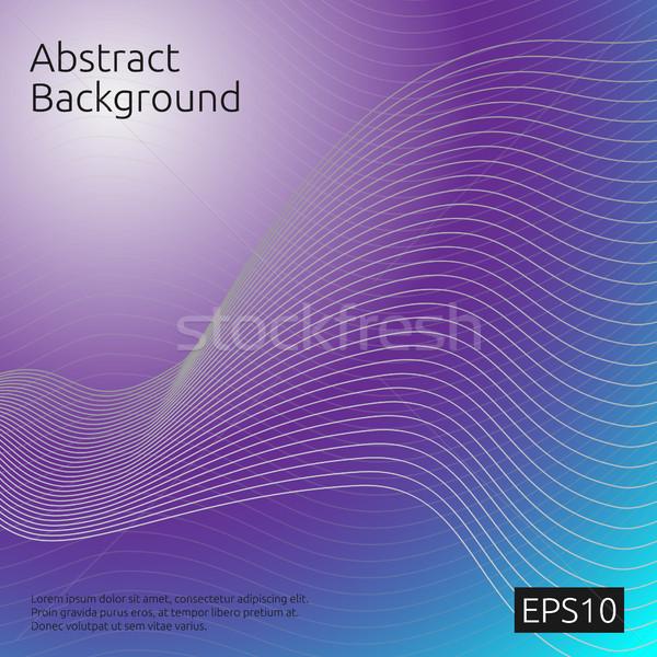 Abstrato linha arte padrão cobrir modelo Foto stock © taufik_al_amin