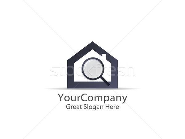 Abstrato casa pesquisar logotipo ícone projeto Foto stock © taufik_al_amin